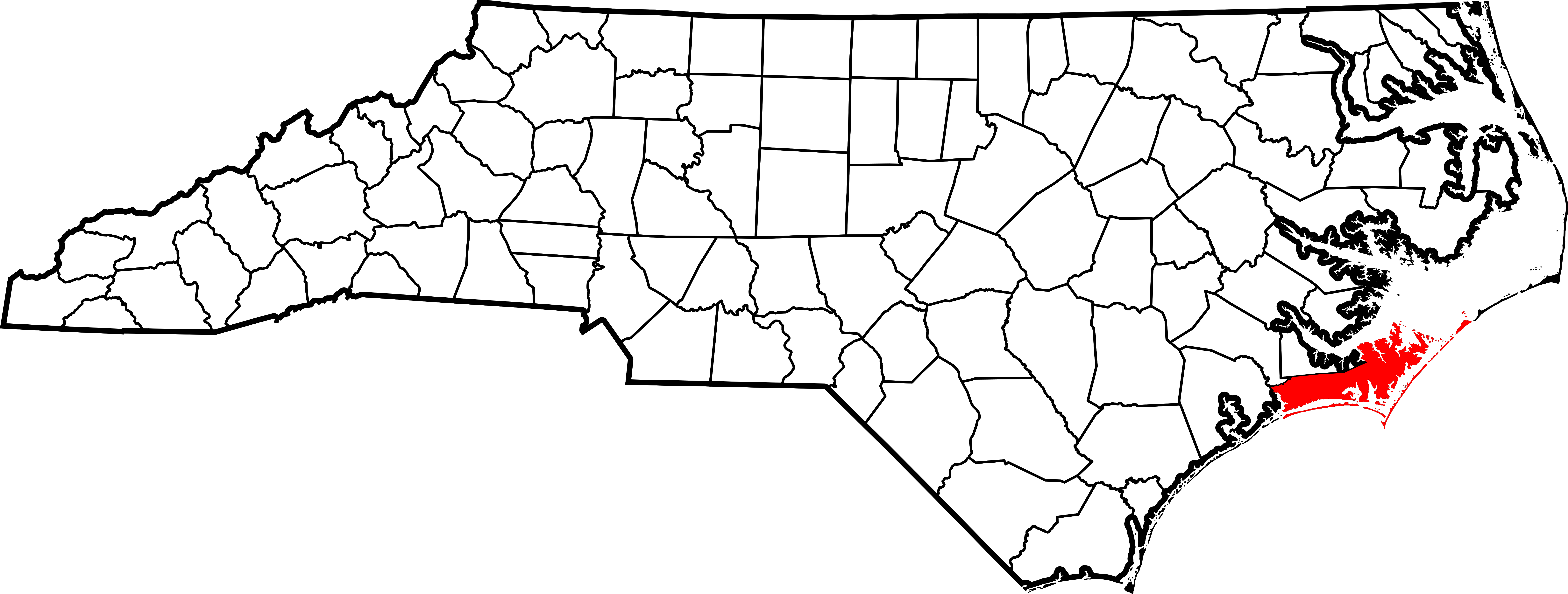 North Carolina County Map NC on united states map to cape town