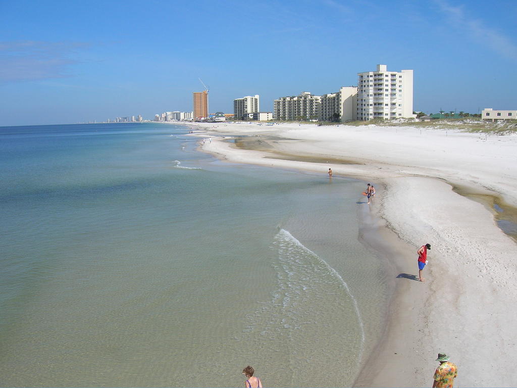 ... northwest from St. Andrews State Park, Panama City Beach, Florida, USA
